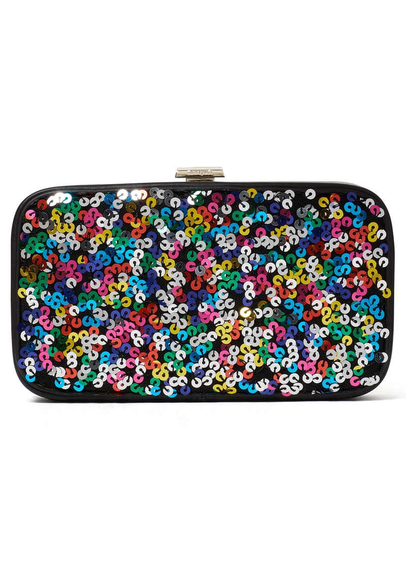 kate spade new york frame sequins clutch