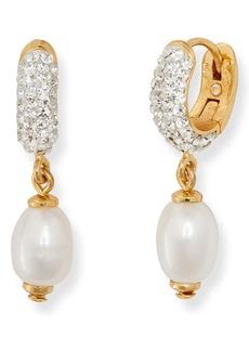 kate spade new york freshwater pearl drop huggie earrings