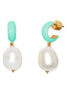 kate spade new york freshwater pearl huggie earrings