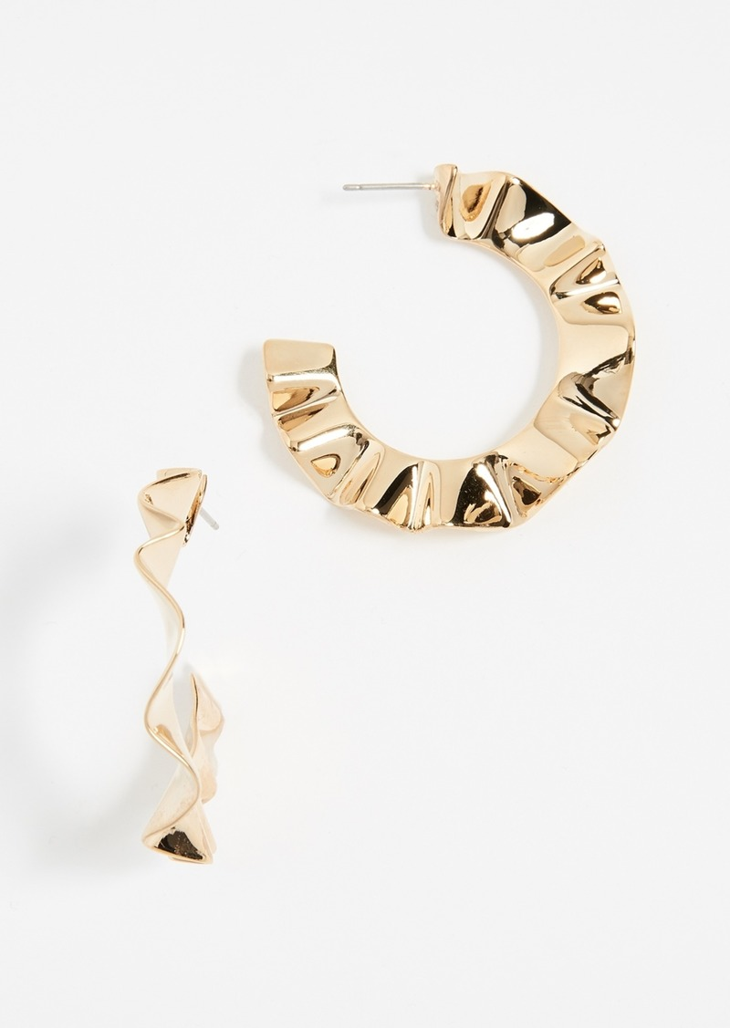 Kate Spade New York Frilled to Pieces Hoop Earrings