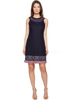 Kate Spade New York Full Plume Embroidered Tassel Dress