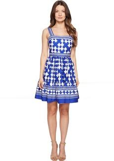 Kate Spade New York Full Plume Lantern Poplin Flounce Dress