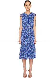 Kate Spade New York Full Plume Tangier Floral Chiffon Dress