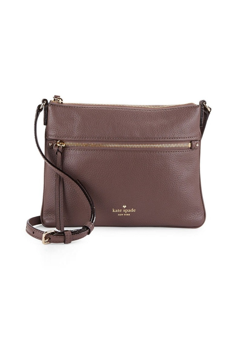 KATE SPADE NEW YORK Gabriele Pebbled Leather Crossbody