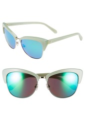 kate spade new york 'genette' 56mm cat eye sunglasses