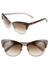 kate spade new york 'genette' 56mm cat eye sunglasses