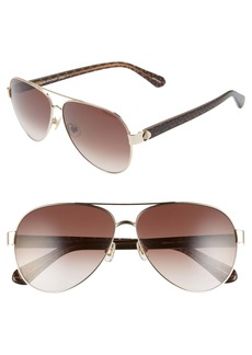 kate spade new york genevas 59mm gradient aviator sunglasses