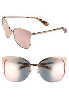 kate spade new york 'genice' 57mm cat-eye sunglasses