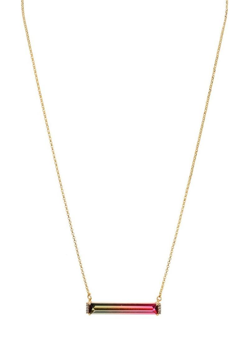 "kate spade new york Geo Gems Ombre Mini Bar Pendant Necklace, 17""-20"""