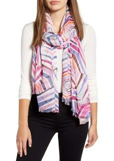 kate spade new york geobrella print fringe scarf