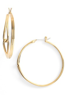 kate spade new york get connected large hoop earrings