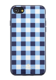 kate spade new york gingham resin phone case for iPhone® 7/8