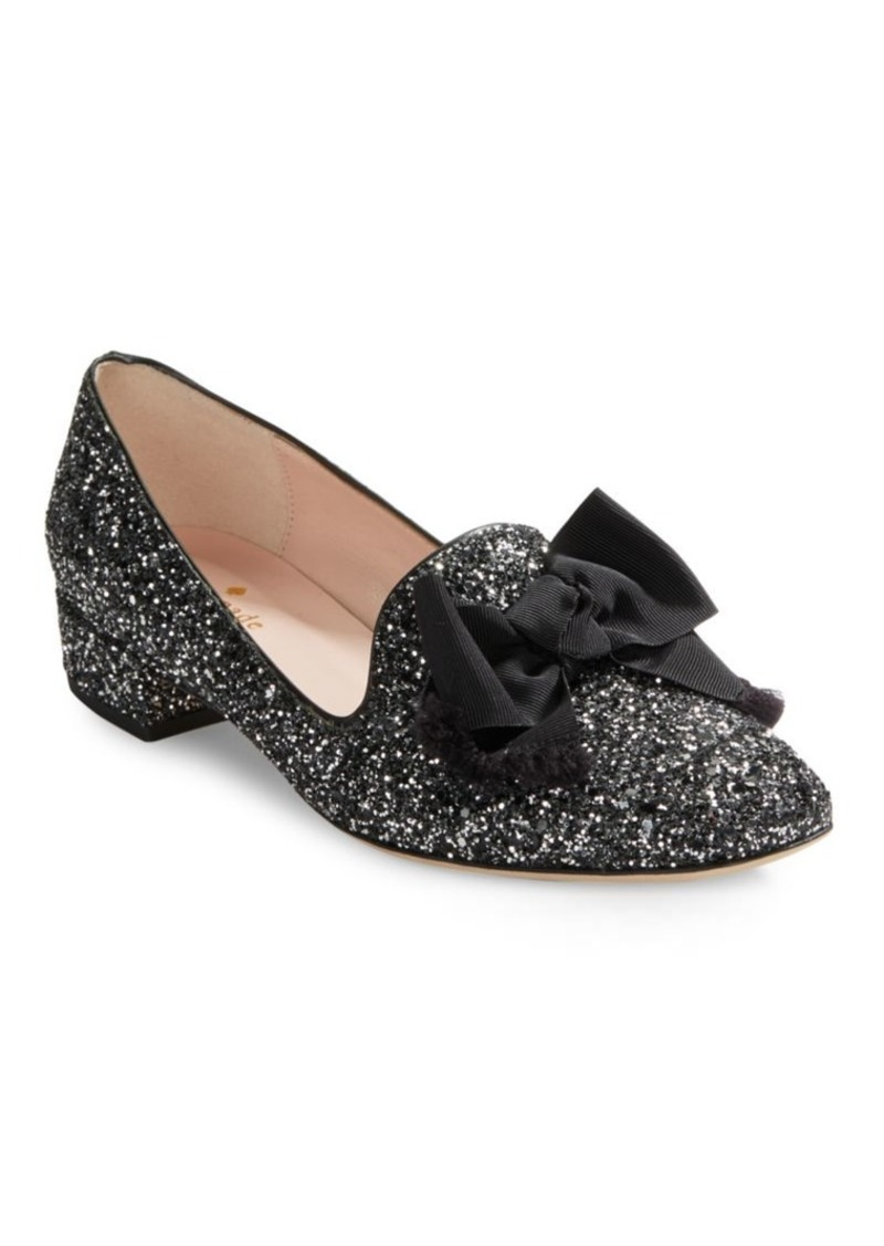 fb731aeaf08 Kate Spade Kate Spade New York Gino Bow-Accent Glitter Loafers