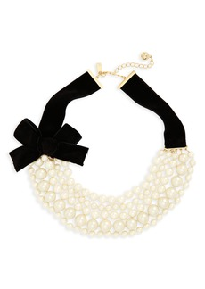 kate spade new york girls in pearls frontal necklace
