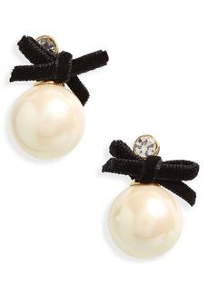 kate spade new york girls in pearls imitation pearl drop earrings