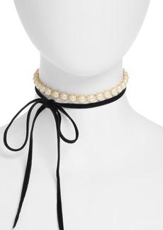 kate spade new york girls in pearls wrap choker