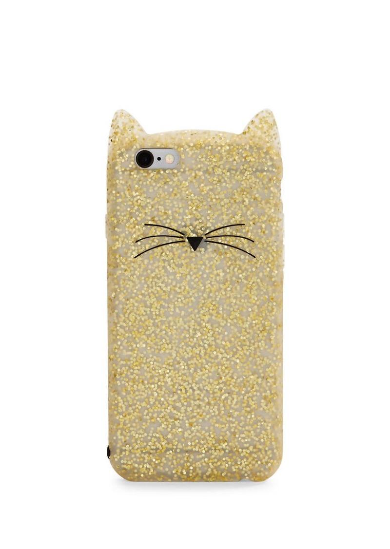 KATE SPADE NEW YORK Glitter Cat Soft iPhone 6 Case