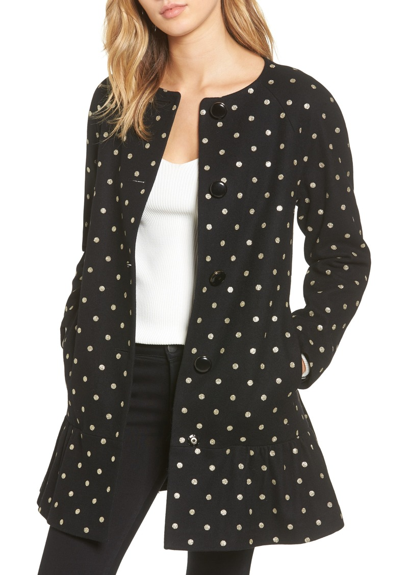b316b6584b6e Kate Spade kate spade new york glitter dot wool blend coat Now  193.98