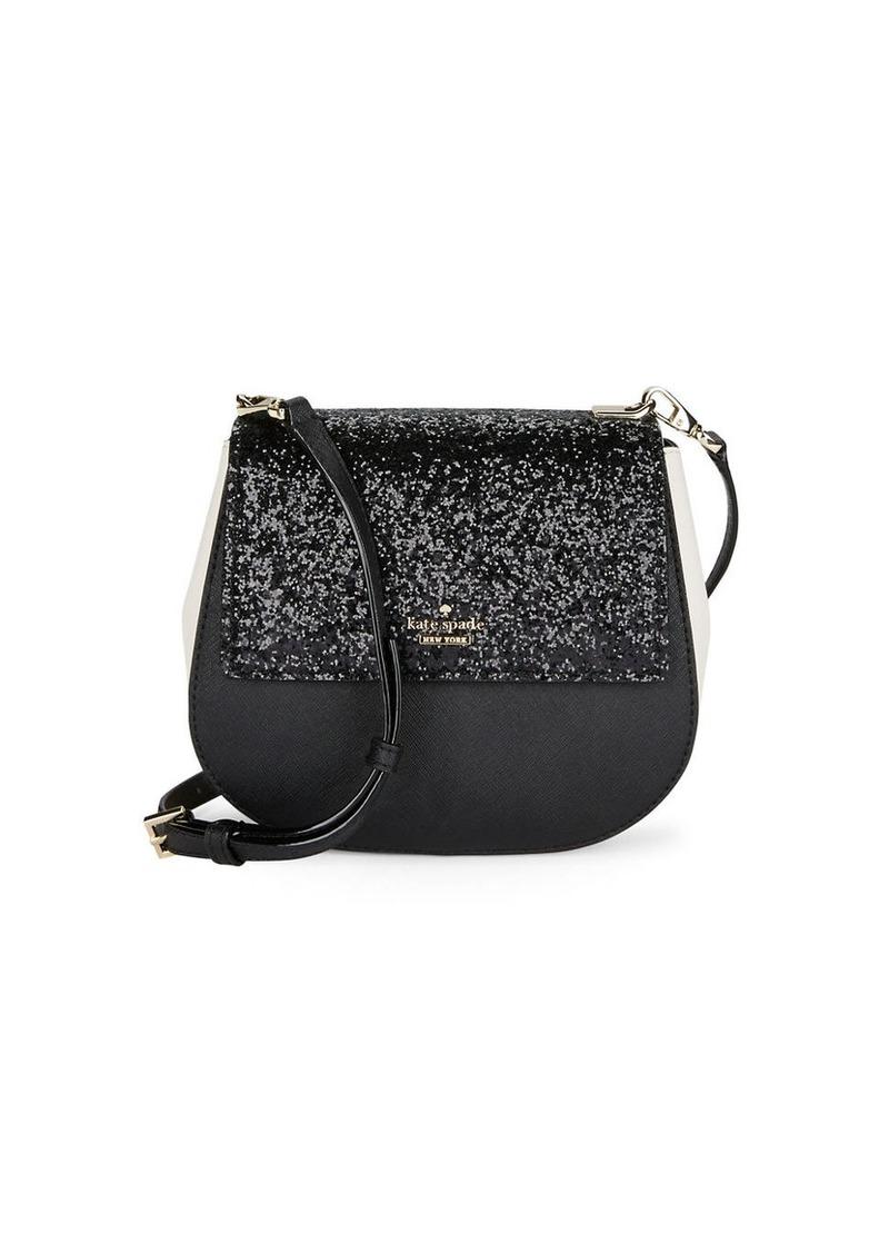 KATE SPADE NEW YORK Glittery Saddle Bag