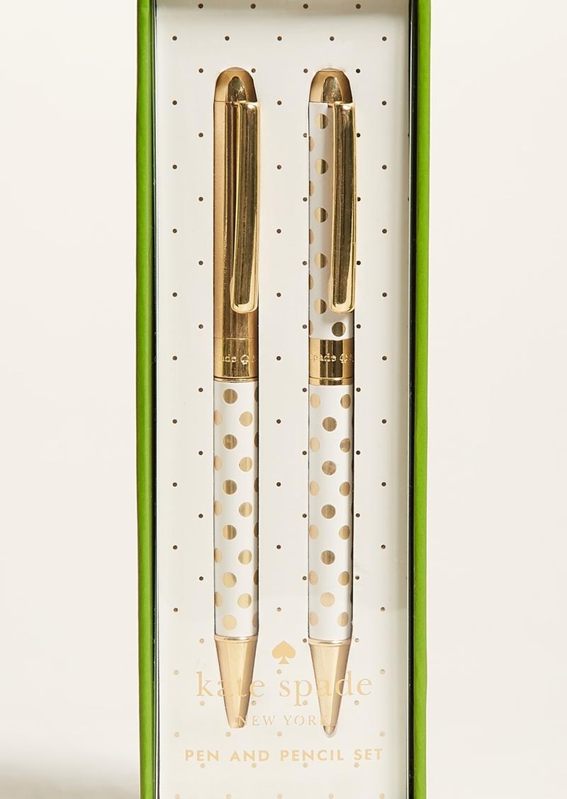71a5c5e0a75 Kate Spade Kate Spade New York Gold Dot Pen   Pencil Set