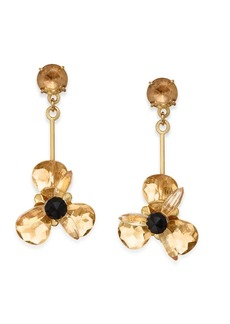 kate spade new york Gold-Tone Blue Crystal Drop Earrings