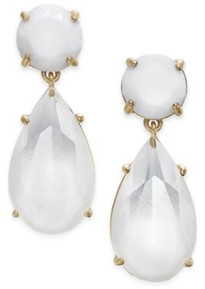 kate spade new york Gold-Tone Colored Stone Drop Earrings