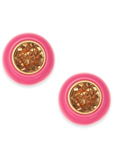 Kate Spade New York Gold-Tone Crystal & Resin Stud Earrings