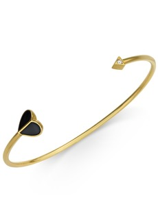 Kate Spade New York Gold-Tone Enamel & Cubic Zirconia Heart & Arrow Cuff Bracelet