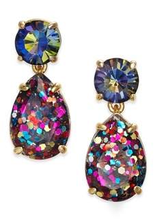 kate spade new york Gold-Tone Glitter Stone Drop Earrings