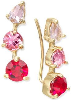 kate spade new york Gold-Tone Multi-Stone Ear Climbers