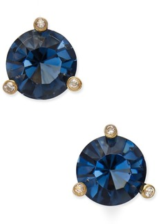 kate spade new york Gold-Tone Navy Blue and Clear Crystal Stud Earrings