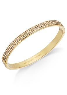 kate spade new york Gold-Tone Pave Bangle Bracelet