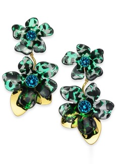 Kate Spade New York Gold-Tone Pave Flower Statement Earrings