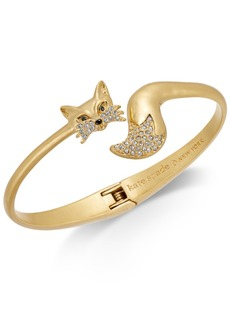 kate spade new york Gold-Tone Pave Fox Cuff Bracelet