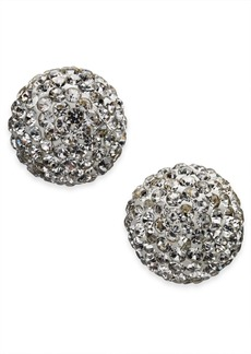 kate spade new york Gold-Tone Pave Orb Stud Earrings