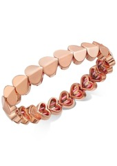Kate Spade New York Gold-Tone, Silver-Tone or Rose-Gold Tone Heart Stretch Bracelet