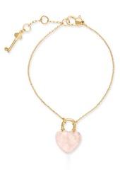 Kate Spade New York Gold-Tone Stone Lock & Key Link Bracelet
