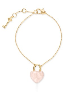 Kate Spade New York Gold-Tone Stone Lock & Key Link Bracelet