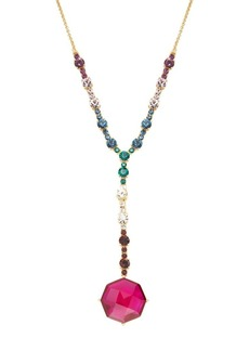 Kate Spade New York Goldtone and Multi-Colored Glass Stone Y-Necklace