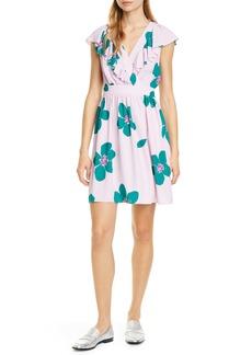 kate spade new york grand flora a-line dress