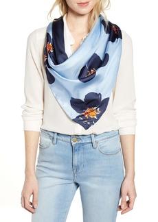 kate spade new york grand flora square silk scarf