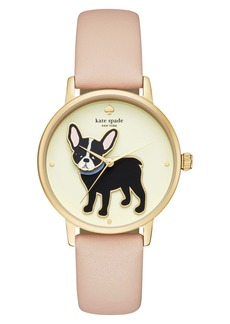 kate spade new york grand metro antoine leather strap watch, 38mm