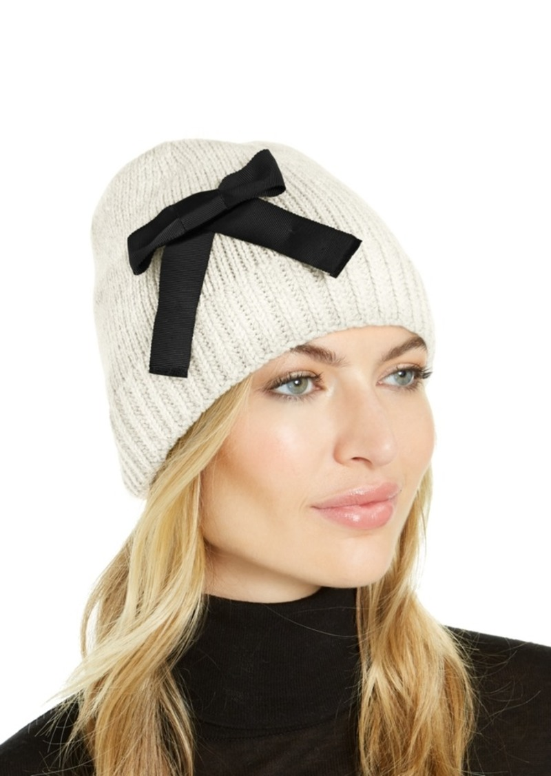 Kate Spade New York Grosgrain Bow Beanie