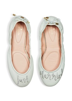 kate spade new york Gwen Leather Just Married Travel Ballet Flats