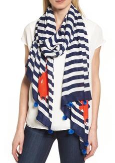 kate spade new york hanging crab stripe scarf