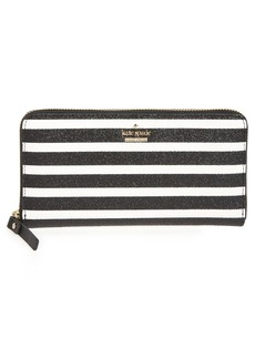 kate spade new york hawthorne lane lacey glitter & faux leather wallet