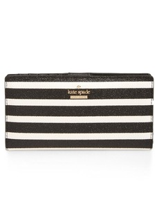 kate spade new york hawthorne lane stacy glitter & faux leather wallet