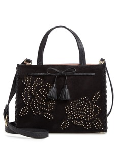 kate spade new york hayes street - rose studs suede & leather satchel