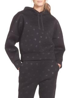 kate spade new york heart embossed hoodie