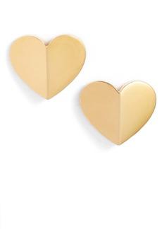 kate spade new york heart statement stud earrings